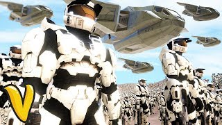 3000 HALO SPARTANS VS 14000 FLOOD ZOMBIES! Ultimate Epic Battle Simulator Funny Moments!