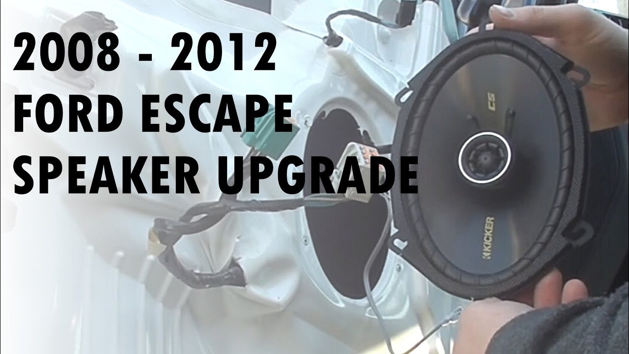 Diy Speaker Upgrade 2011 Ford Escape Youtube