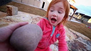 DINOSAUR EGG hidden in our backyard!! Adley and Dad after work routine