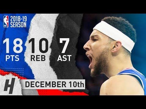 Ben Simmons Full Highlights 76ers vs Pistons 2018.12.10 - 18 Pts, 7 Ast, 10 Rebounds!