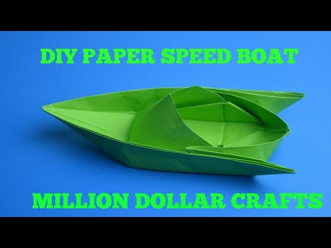 Diy Paper speed boat/How To Make A Paper Speed Boat