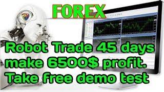Forex Robot trade 6500$ profit in 45 days. Take a free demo test. EA trade, Auto Trade