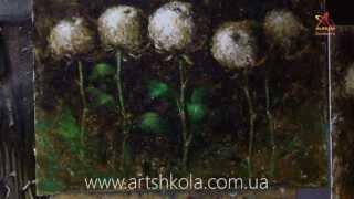 Мастер класс живописи Елены Ильичевой - Хризантемы