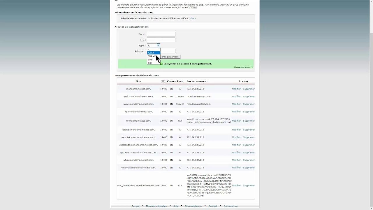 Hébergement Joomla - Gestion des DNS chez SiteGround