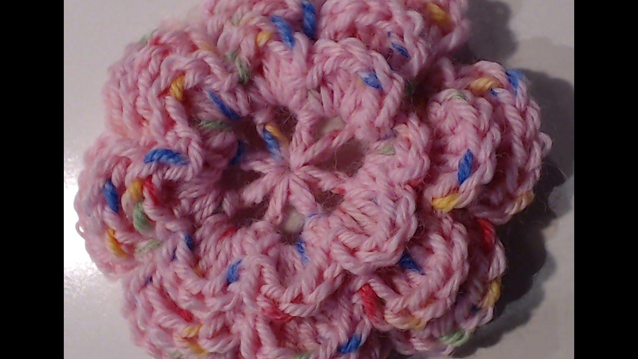Fiori 3d Uncinetto.Tutorial Fiore A 8 Petali In 3d Uncinetto Crochet Youtube