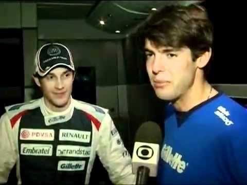 Kaka faz visita supresa a Bruno Senna em Jerez