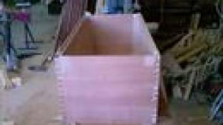 Woodworking-oak Blanket Chest