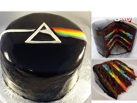 Pink Floyd Cake With Mirror Glaze And Rainbow Inside!- With Yoyomax12