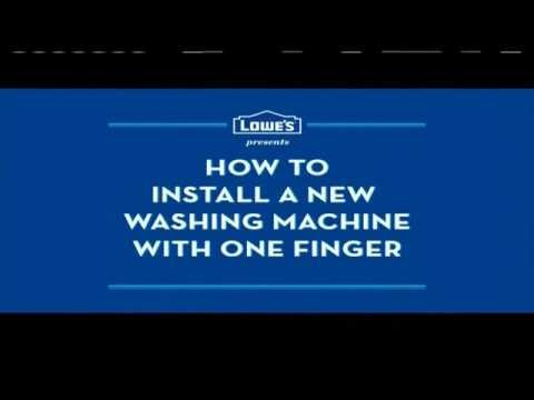 TV Spot   Loweu0027s   How To Install A New Washing Machine With One Finger    YouTube