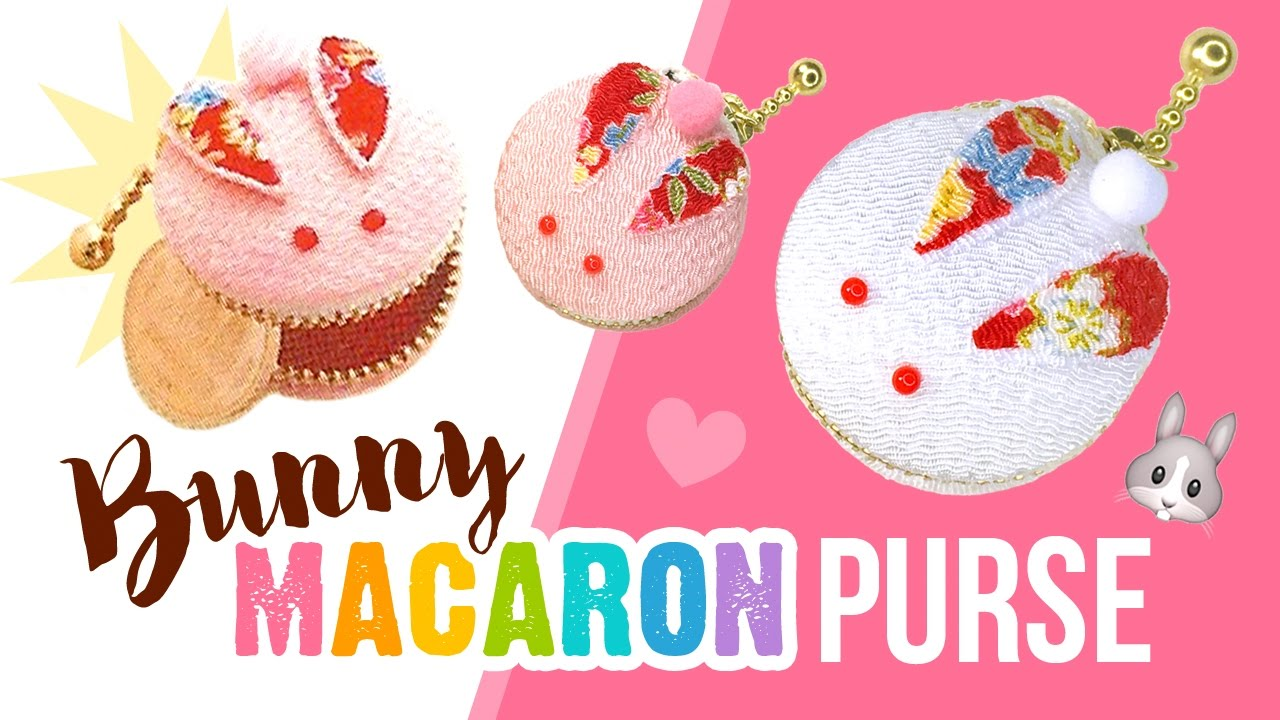Diy Bunny Macaron Coin Purse Asmr Japanese Style Craft Kit Youtube
