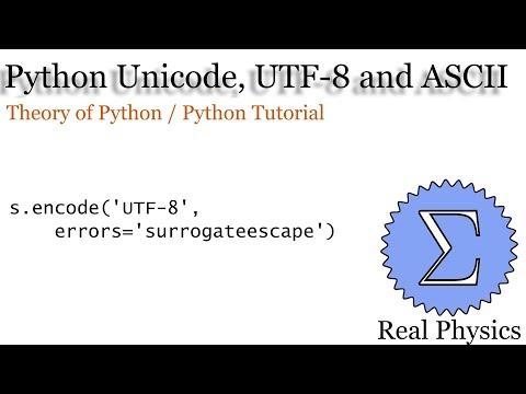 Unicode, UTF 8 And ASCII