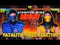 Scorpion & Sub-Zero REACT - Mortal Kombat 3/Trilogy Fatality Fails (By JustMKollum)   MKX PARODY!