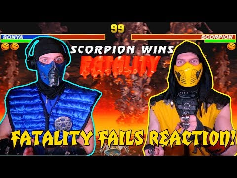 Scorpion & Sub-Zero REACT - Mortal Kombat 3/Trilogy Fatality Fails (By JustMKollum) | MKX PARODY!