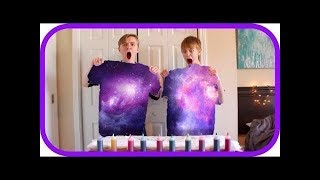 DIY GALAXY TIE-DYE SHIRTS!! - its just luke (Deleted  Video)