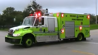 Miami Dade Fire Rescue Rescue 8 responding (wail, yelp, hi-lo) [FL | 8/27/2012]