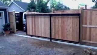 Automatic Maryland Wood Slide Gate & Fence
