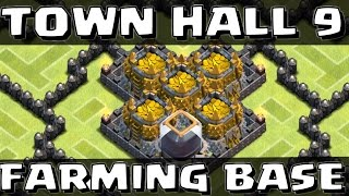 Clash of Clans - Town Hall 9 Farming Base with 4th Mortar SpeedBuild!