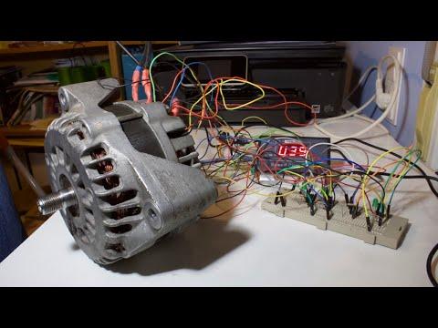 Re-installing Hall Sensors To A Car Alternator (as A BLDC Motor) Car Alternator Go Kart Update P11