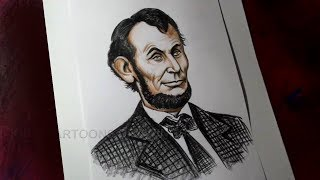 How to Draw Abraham Lincoln Detailed Drawing for Kids