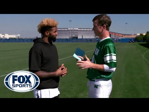 Thumbnail: Odell Beckham Jr. catches Peanut M&M'S from Cooper Manning - #MANNINGHOUR