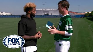 Odell Beckham Jr. catches Peanut M&M S from Cooper Manning - #MANNINGHOUR