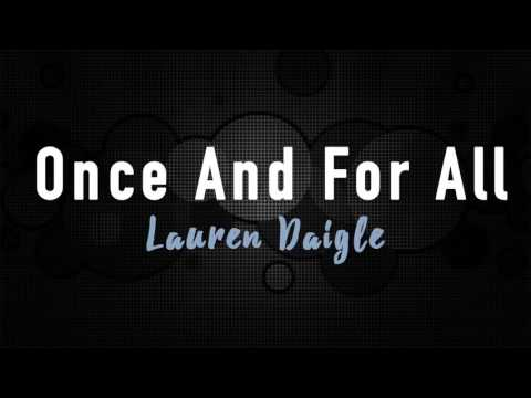 Once And For All - Lauren Daigle (Instrumental)