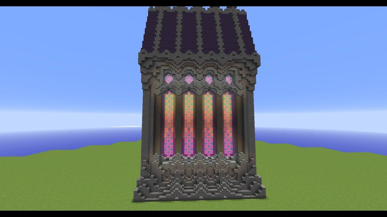 How to make rainbow windows in minecraft youtube for Window design minecraft