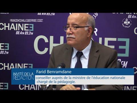 Farid Benramdane ,Conseiller auprès de la ministre de l'éducation nationale