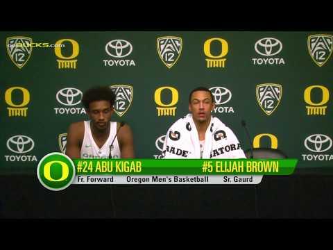 Elijah Brown and Abu Kigab Alabama St. Post Game