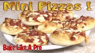 Mini Pizzas Recipe ! Pizza Bites Recipe ! - Great For Kids And Parties !