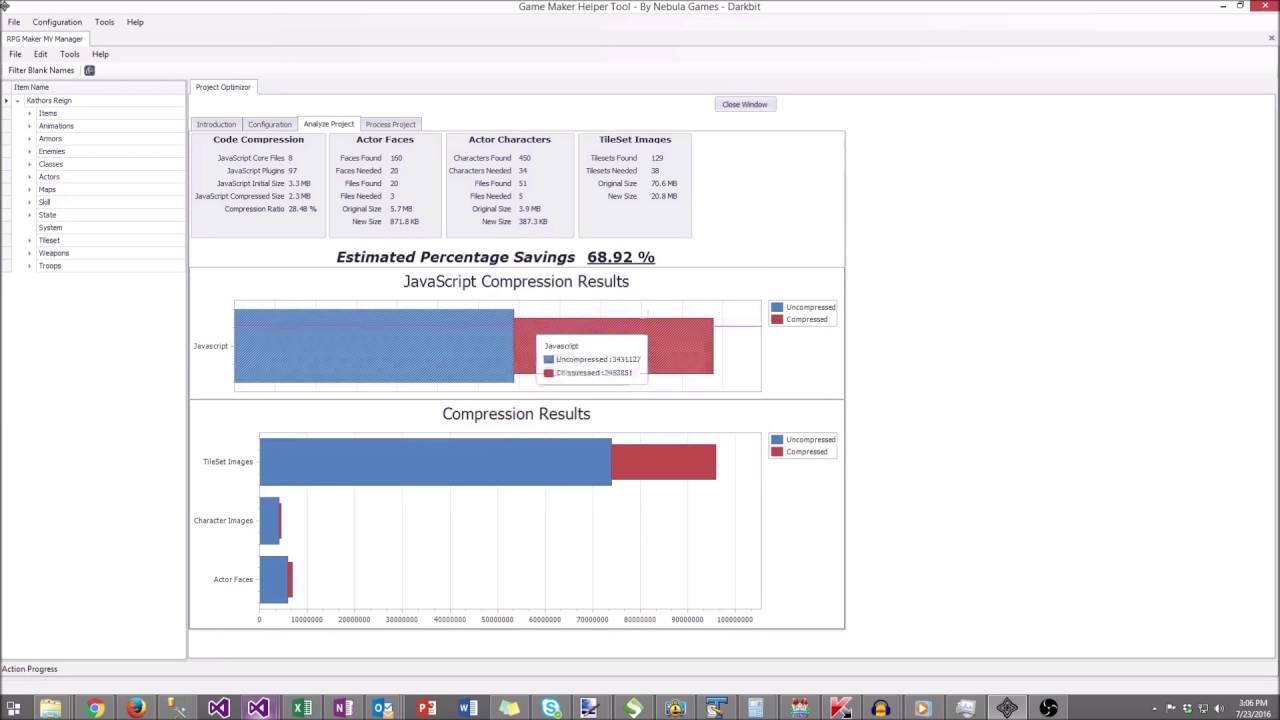 RPG Maker MV - Project Optimization / Compression