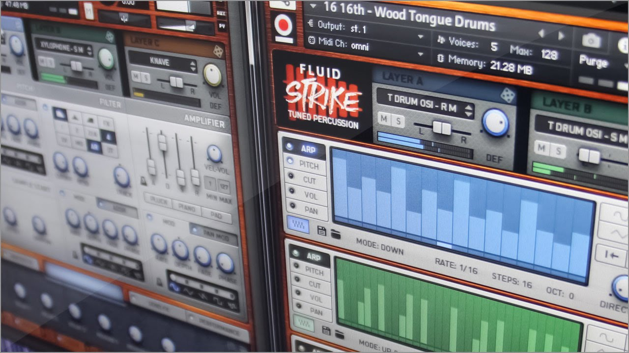 Fluid Strike: Tuned Percussion Sample Library for Kontakt