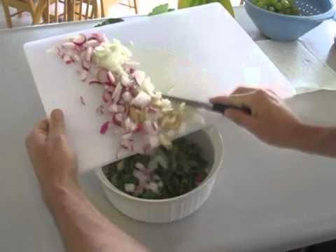 Spring Radish Salad Harvest - Raised Bed Vegetable Garden Organic Raw Food Square Foot