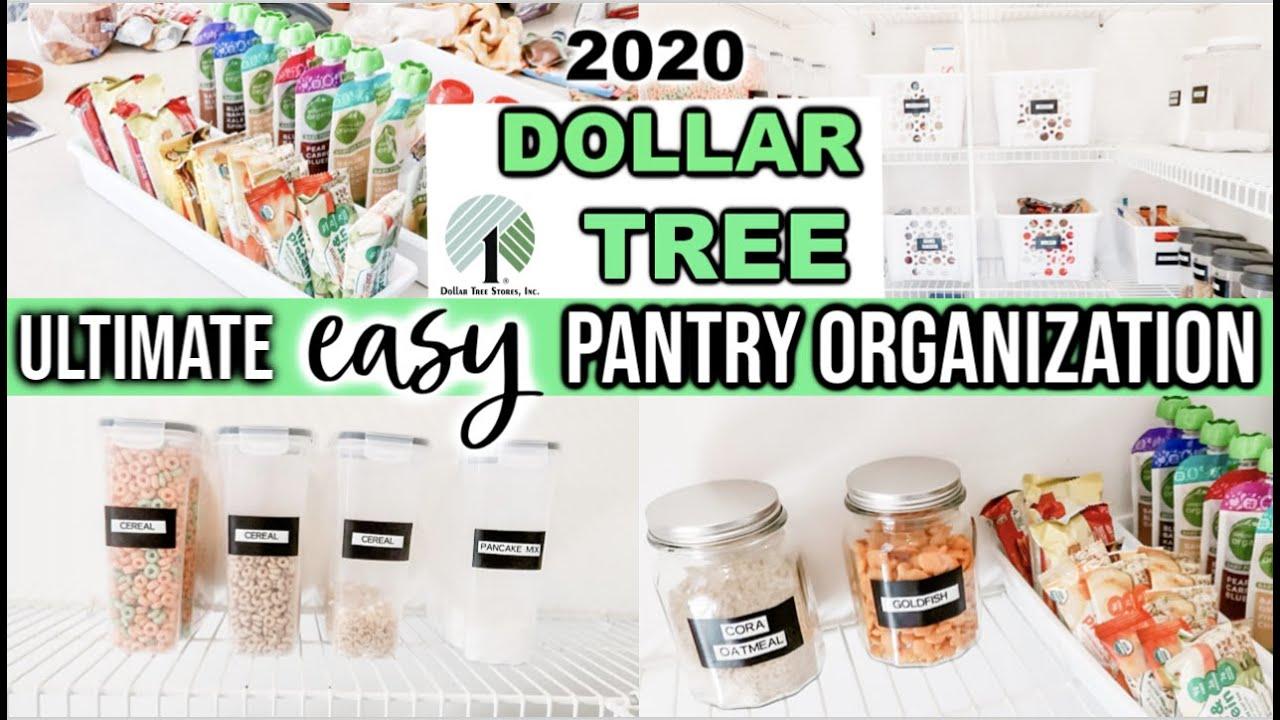 Dollar Tree Pantry Organization