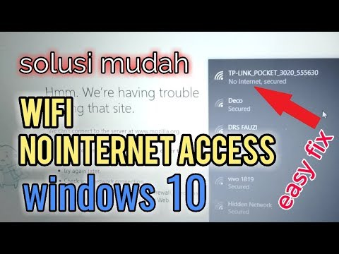 Fix Wifi No Internet, Secured Windows 10 | Easy 100%