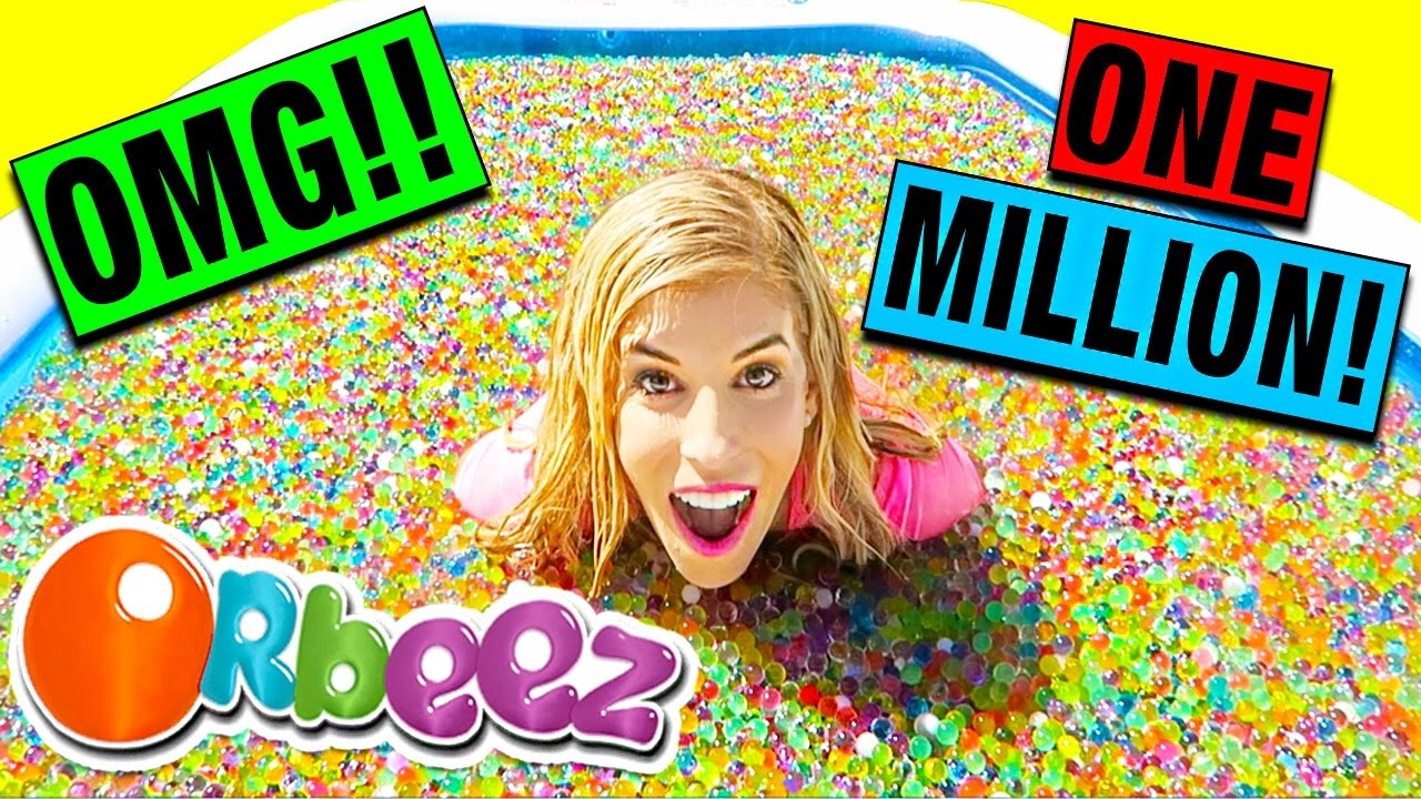 1 million orbeez bath dare challenge with huge giveaway youtube. Black Bedroom Furniture Sets. Home Design Ideas