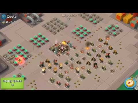 "Boom Beach Operation ""Bottleneck"" Quota Level 101 - Solo Warrior Attack!"