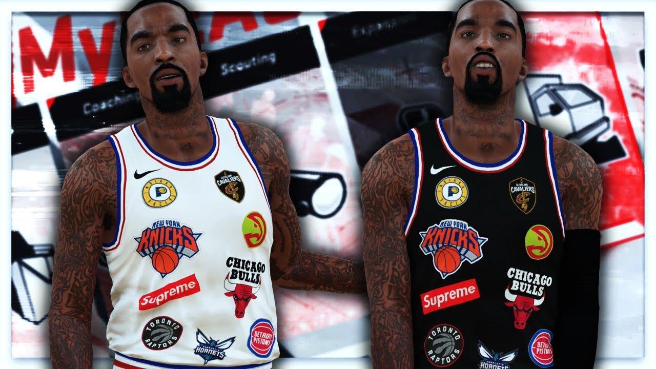 online store ac6ba bc606 NBA 2K18 Supreme x Nike x NBA Jersey Tutorial