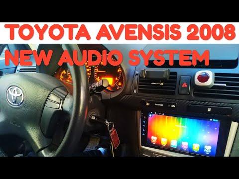 Замена штатной магнитолы на андроид из AliExpress Toyota Avensis T25