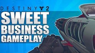 Destiny 2 - Sweet Business Exotic Auto Rifle / MINIGUN! Exclusive Gameplay - Inverted Spire Strike