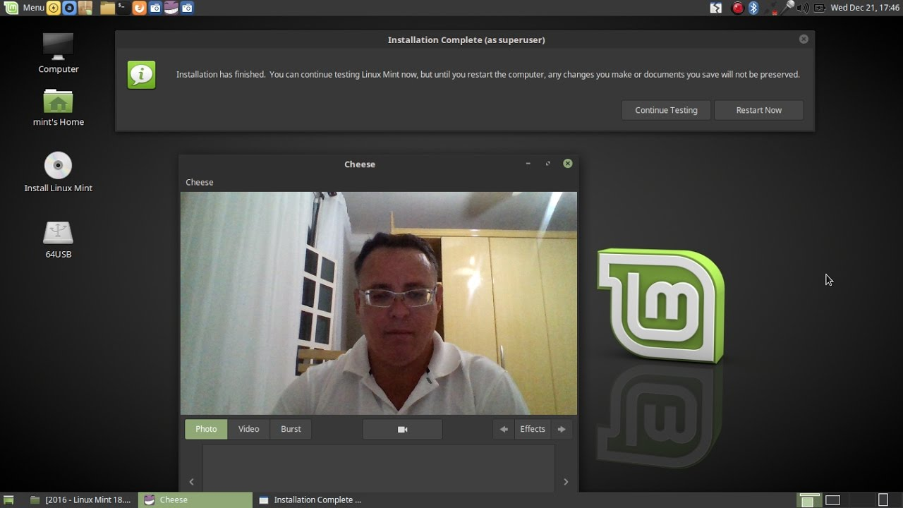 2016 - Linux Mint 18 1 Mate - How-to Install to a 16GB+ USB Flash/Pen Drive  (Encrypted)
