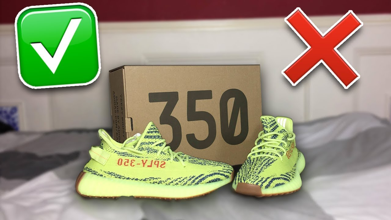 'YEBRA' SEMI FROZEN YELLOW YEEZY LEGIT CHECK TIPS & REVIEW!!! (ADIDAS YEEZY BOOST V2 REAL VS FAKE)