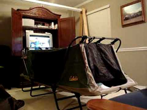 & Cabelau0027s Deluxe Tent Cot - YouTube