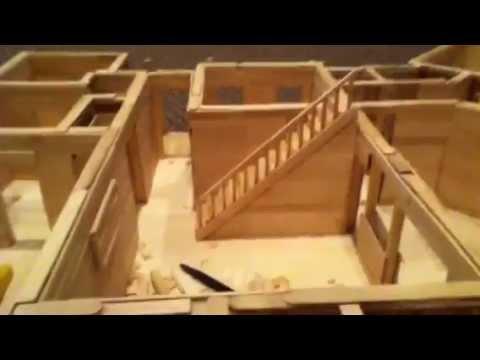 Popsicle stick model house