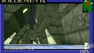 GoldenEye-007 (N64)-Gameplay-Walkthrough-extra-Aztec-Agente 00 mision 57 Al 100%