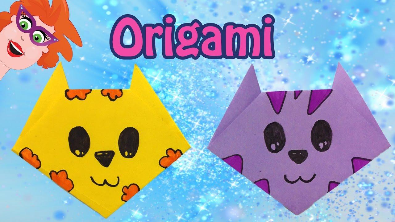 Origami Kat Vouwen Van Papier Makkelijk Youtube