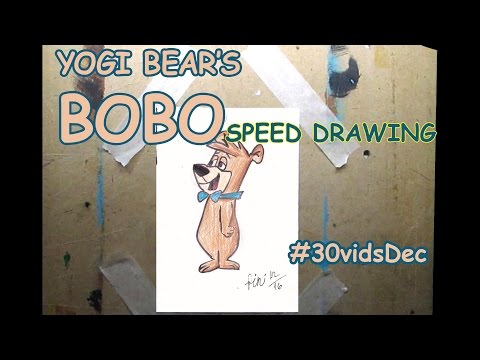 4. BOBO (Hanna Barbera's Yogi Bear) - speed drawing #30vidsDec
