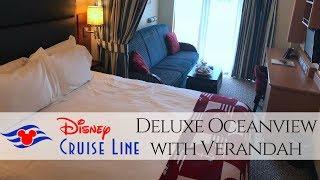 Disney Dream Deluxe Oceanview with Verandah  Tour 2018
