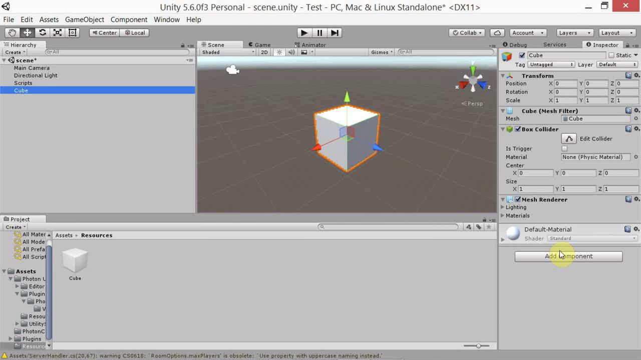 Photon Unity Netowrk Basics 02 - Instantiate