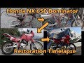Honda NX 650 Dominator rebuild timelapse